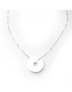 Collier argent donuts