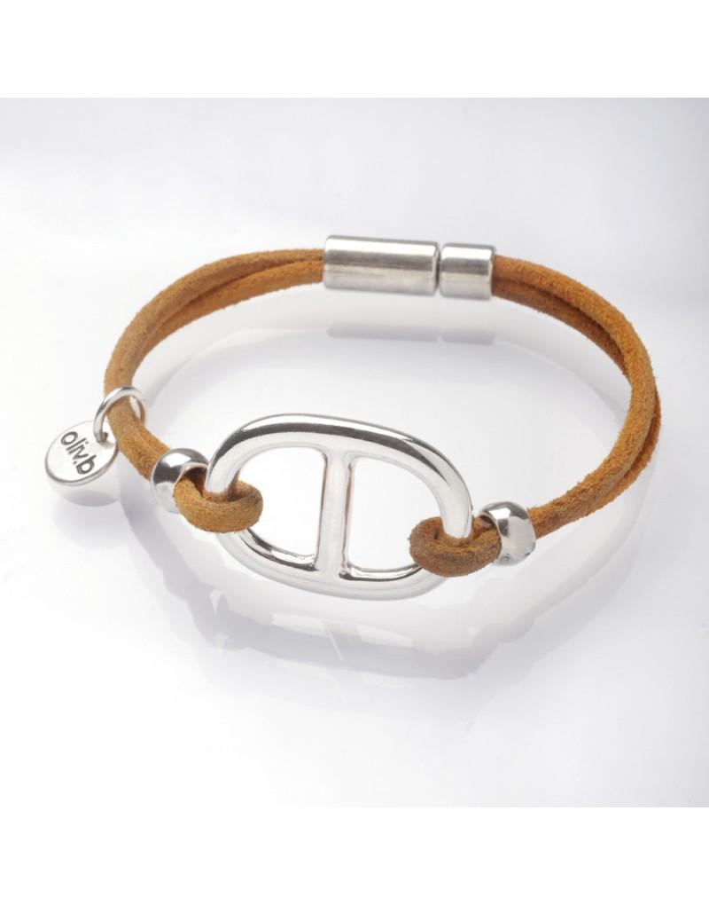 bracelet cuir maille marine. Black Bedroom Furniture Sets. Home Design Ideas