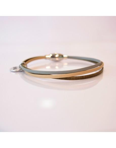 Bracelet trois cuirs
