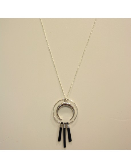 Collier chaîne argent corne