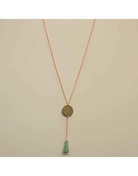 Collier chaîne plaqué or rose
