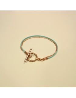 Bracelet chaîne plaqué or rose