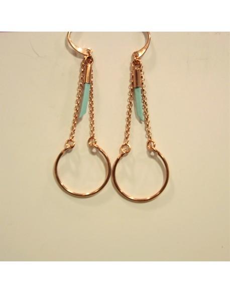 Boucles d'oreilles plaqué or rose