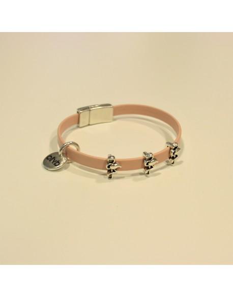 Bracelet flamant rose