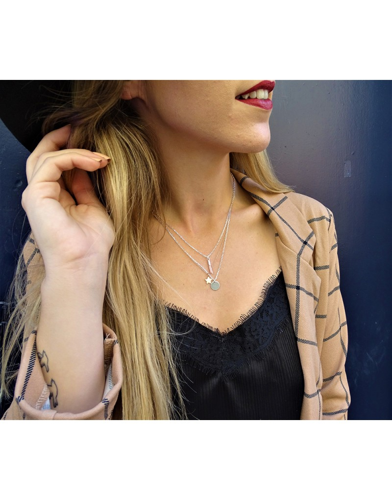 collier argent ou or homme