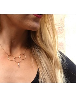 Collier plaqué or rose