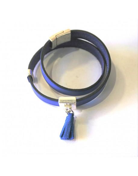 Bracelet cuir double tour