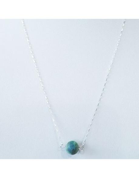 Collier argent avec perle Agate