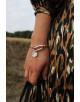 Bracelet cuir et ovale