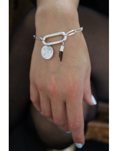Bracelet chaine et ovale central