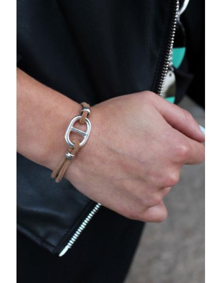 Bracelet maille marine