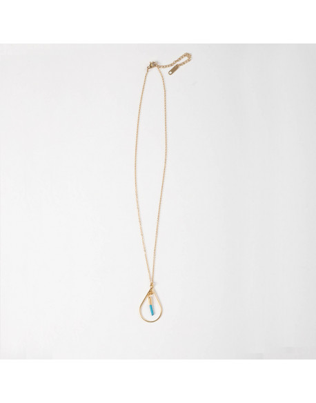 COLLIER FIN ET PAMPILLES YOUSSEF