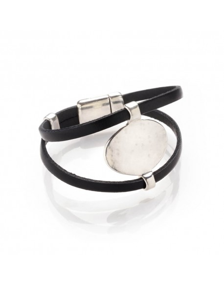 Bracelet cuir pièce unique
