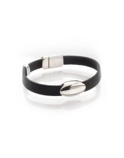 Bracelet simple tour en cuir homme